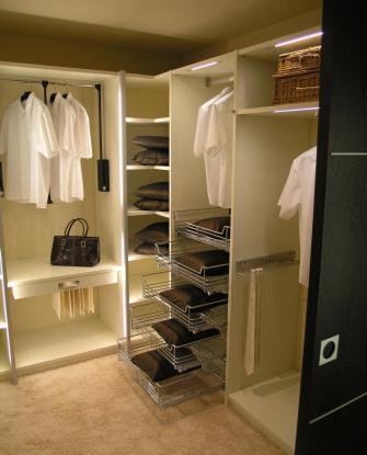 Наполнение шкафов-купе и гардеробных